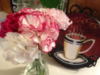 carnations and cappuccino