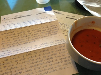 compassion letter and soup